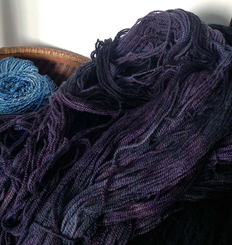 helix hand-dyed yarn by Infinite Twist in Spooky Purple 2.jpg