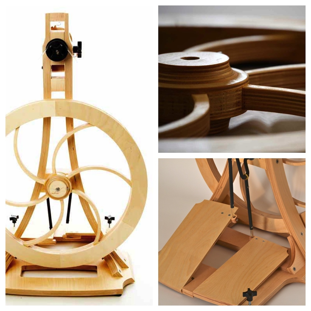 The Artisan Spinning Wheel - Acadia Wheel & Loom's sleek and modern spinning wheel delivers a supremely smooth spinning experience.Handmade in Portland, Oregon.