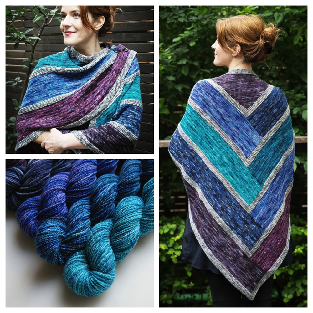 log cabin shawl by cate carter-evans