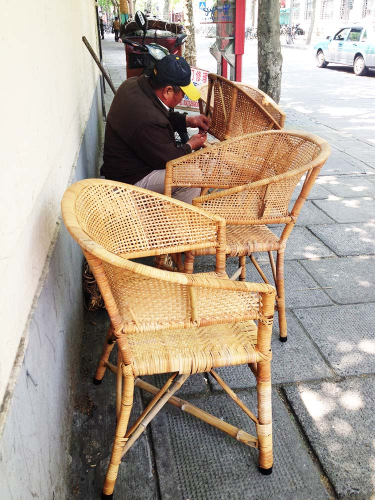 wicker repairman shanghai, china by cate carter-evans