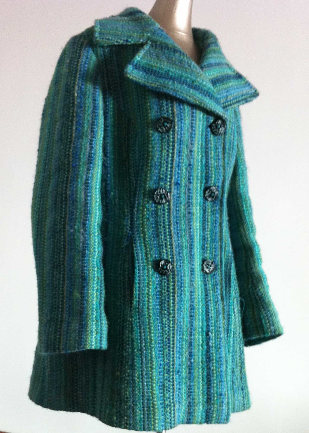 handwoven coat by cate carter-evans