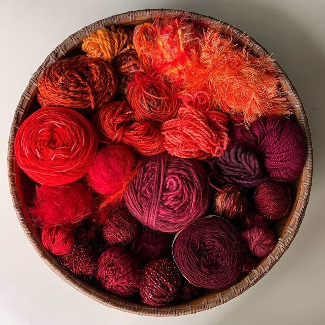 Scrappy knitting ahead! #colorcompanion #yarnporn #indiedyer