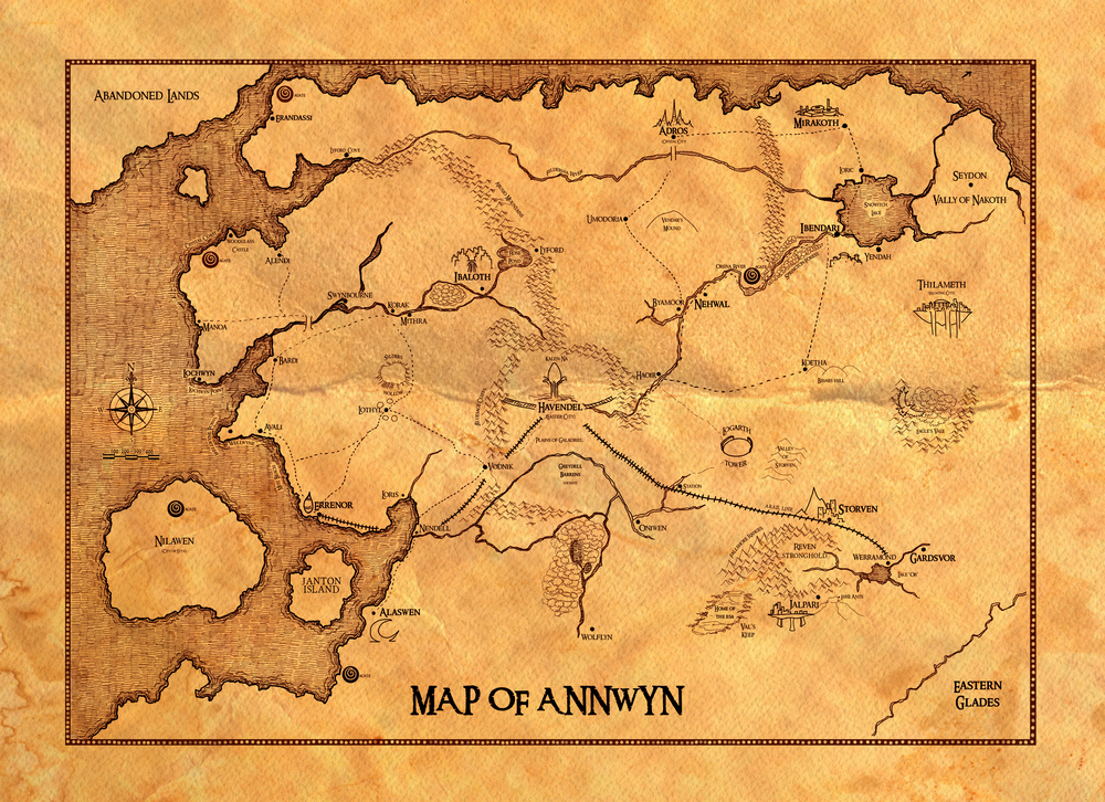 One of the early Maps of Annwyn, discovered in 439BCE