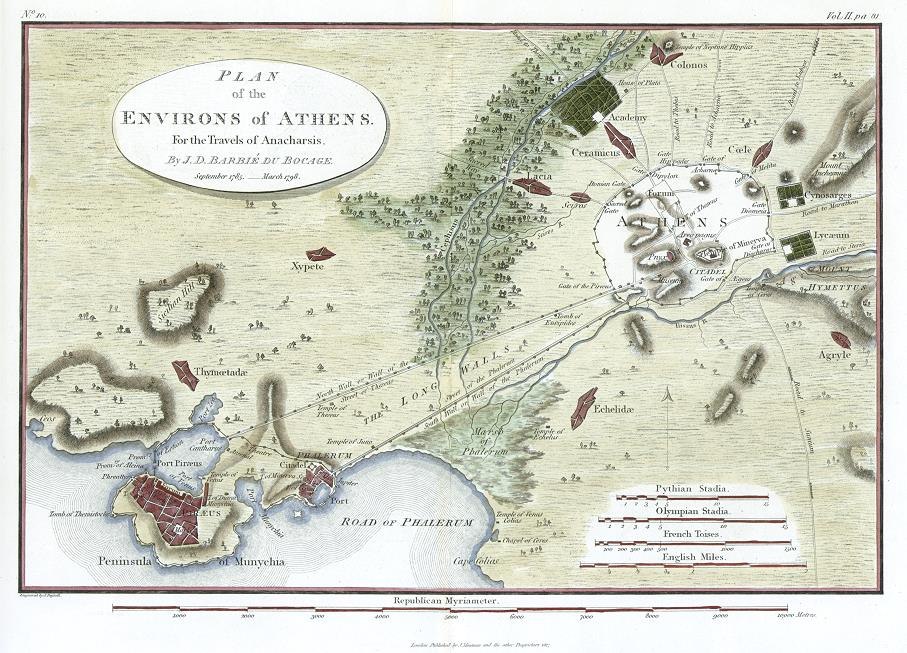 Map of Athens around 400BCE   http://stock-images.antiqueprints.com/stock/historical-maps.html