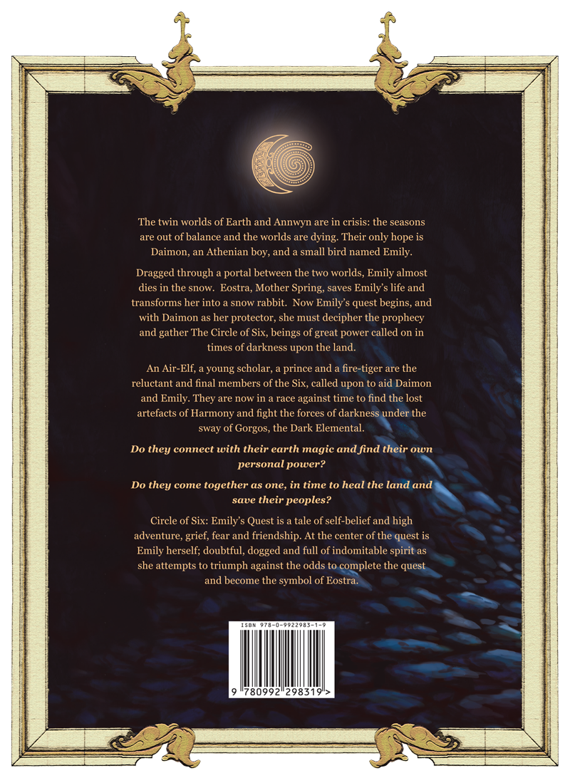 BACK cover of the Circle of Six Dan Sanders