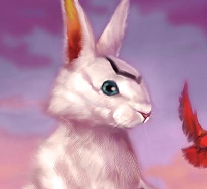 Emily the Easter Bunny's Ocean Eyes