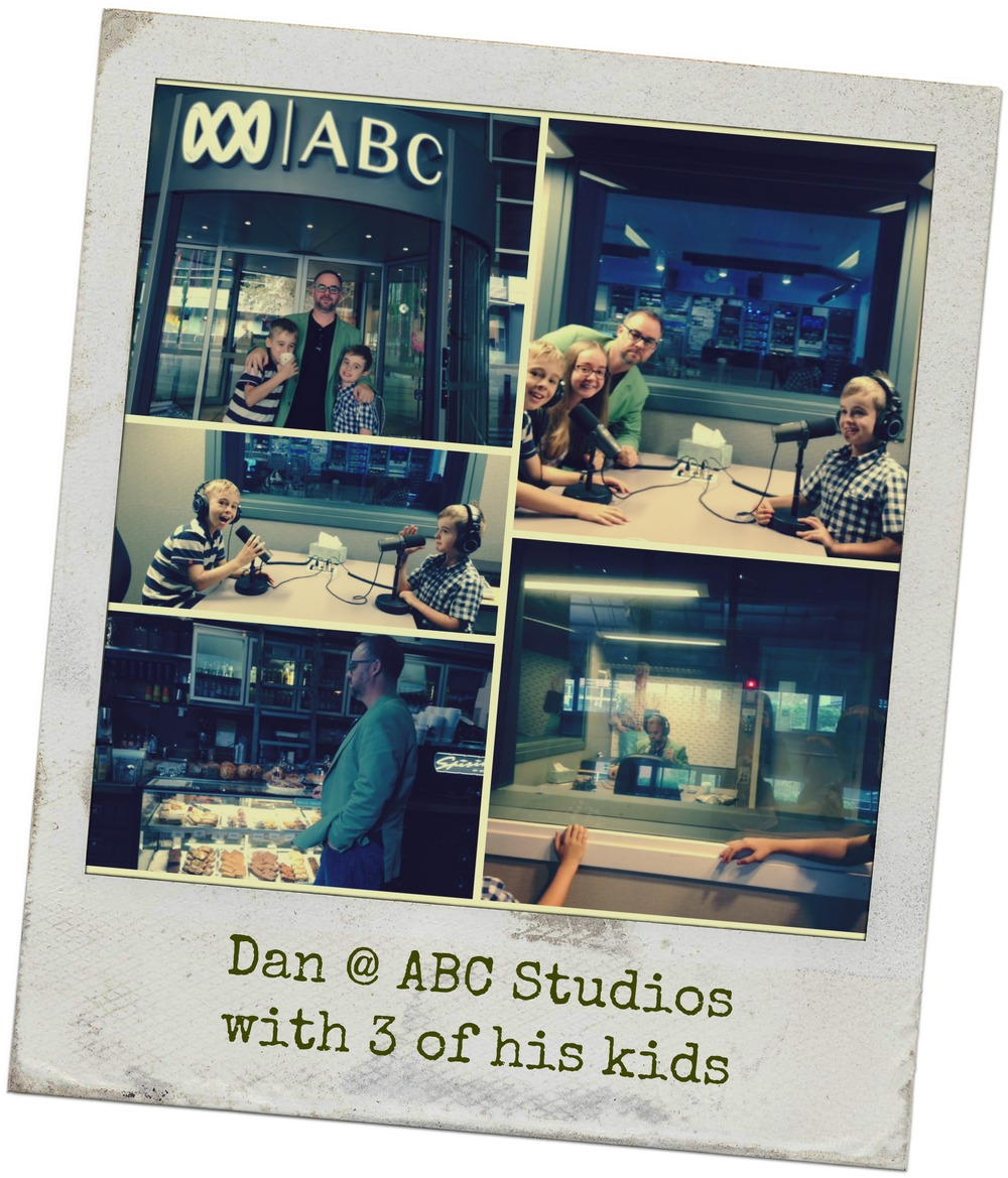 Dan at the ABC studios