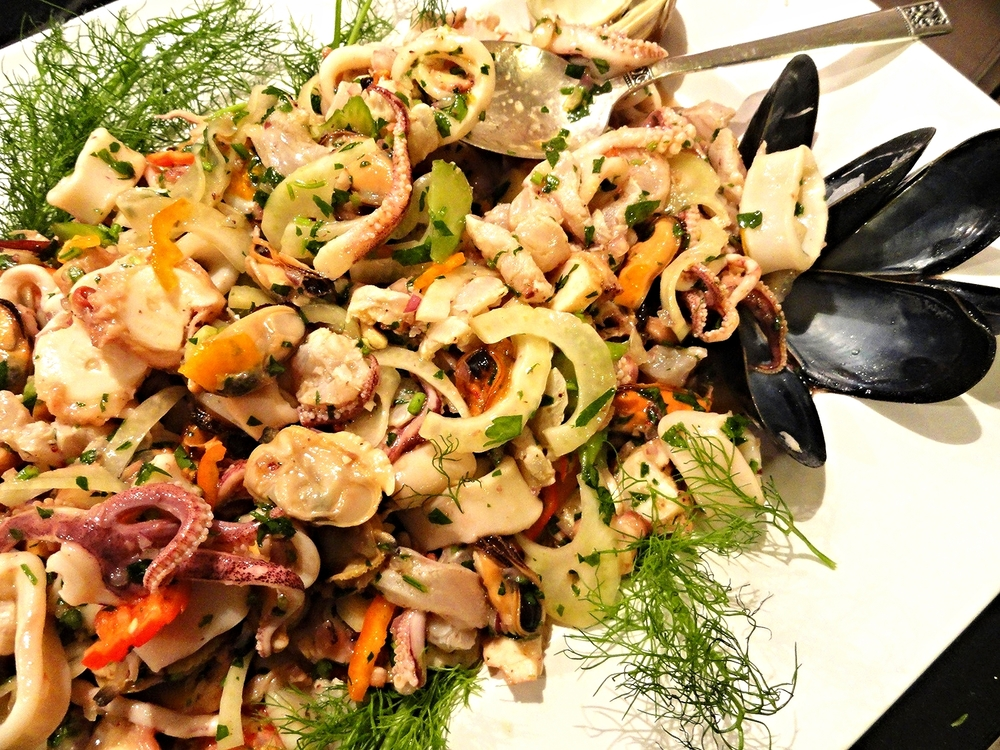 Amalfi Coast seafood salad in herbed citrus dressing