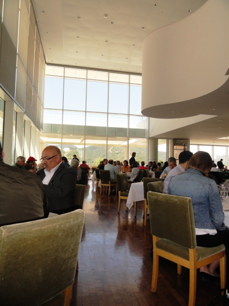 The airy dining room of the Restaurant at the Getty Center