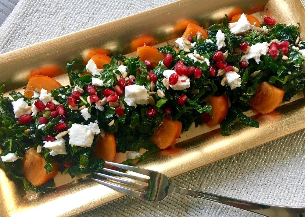 Persimmon kale salad fork.jpg