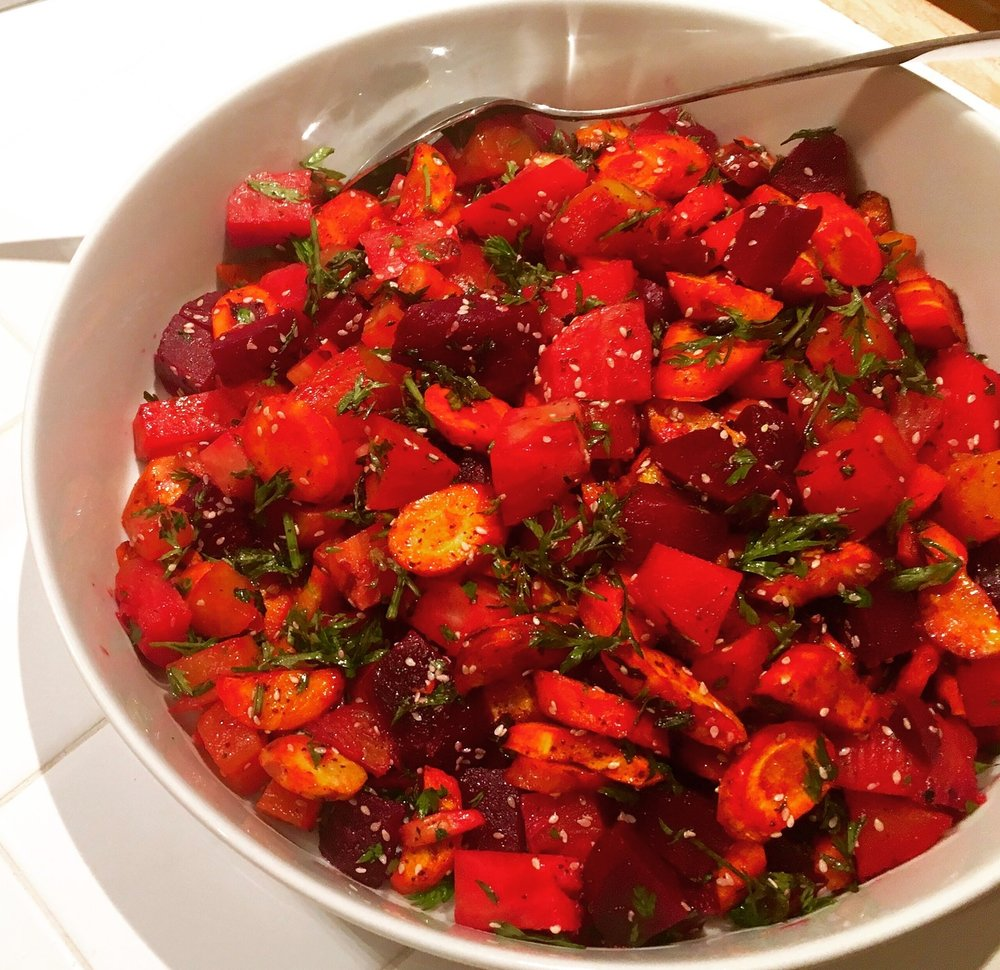Moroccan Beet and carrot salad.JPG