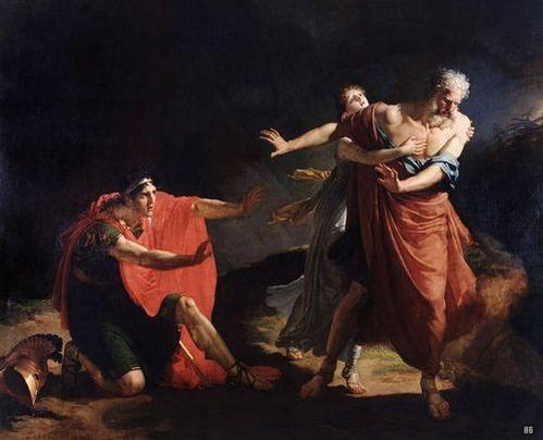 Oedipus Curses Polyneices by Jacques Augustin Catherine Pajou, 1804