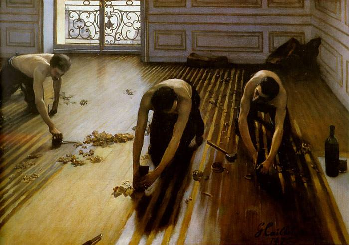 The Floor Scrapers by Gustave Caillebotte, 1875