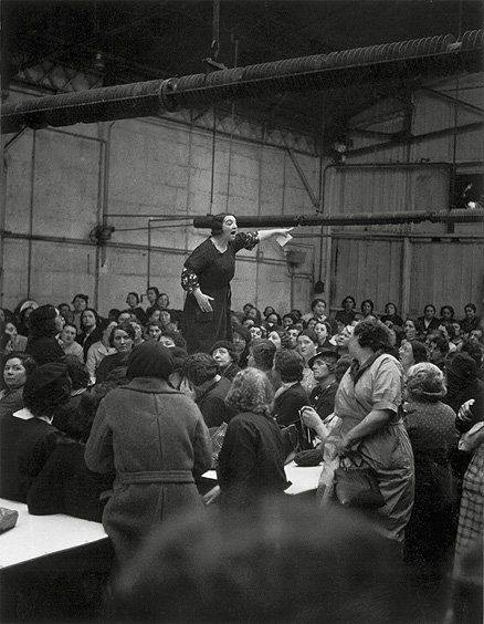 Female Workers During a Strike at Citroen by Willy Ronis, 1930s