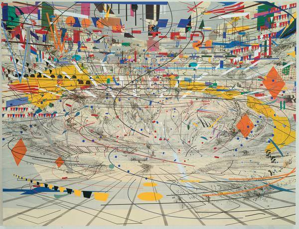 Stadia II by Julie Mehretu, 2004