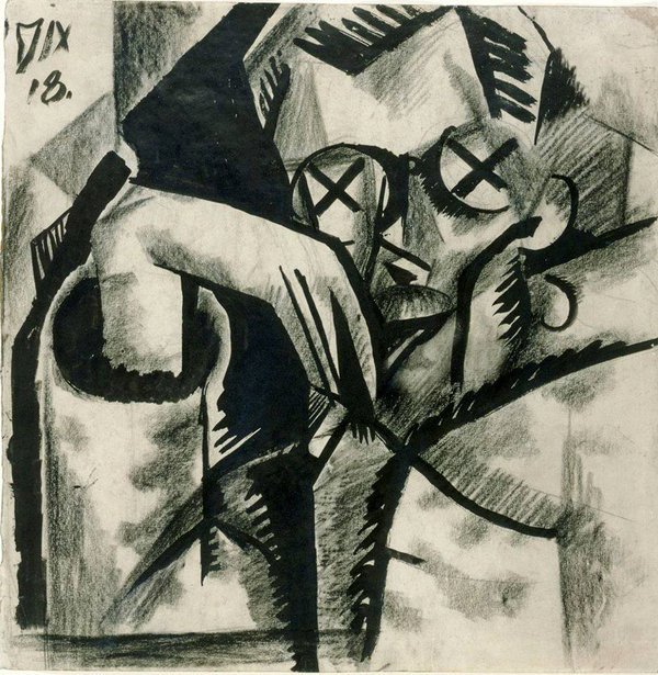 Thoughtful Man by Otto Dix, 1918