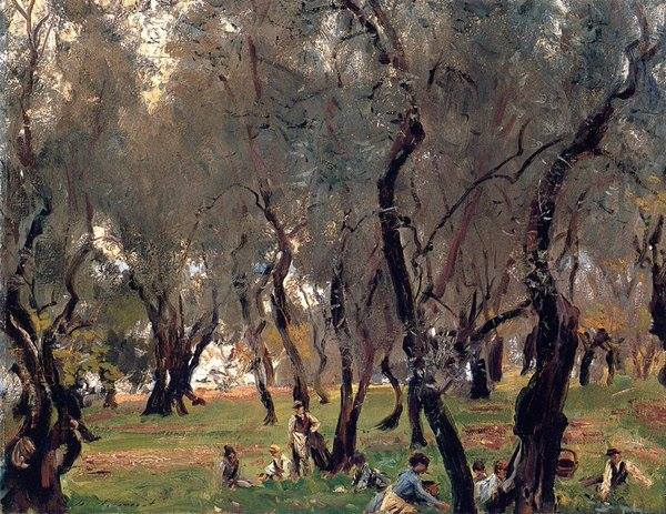 The Olive Grove by John Singer Sargent, 1908
