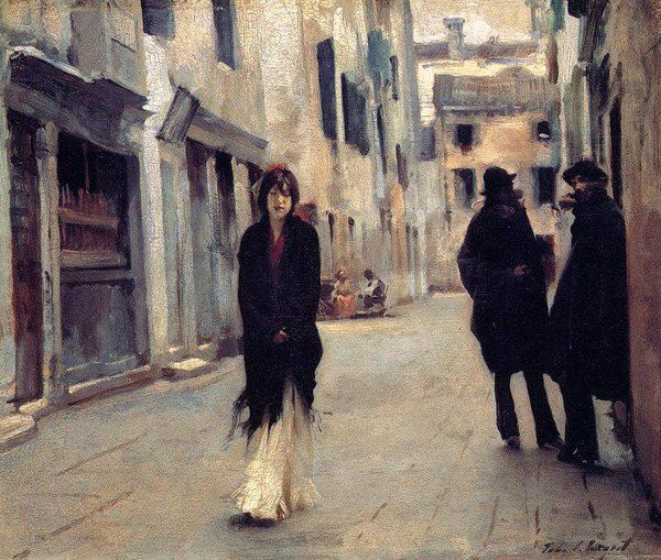 Street in Venice by John Singer Sargent, 1882