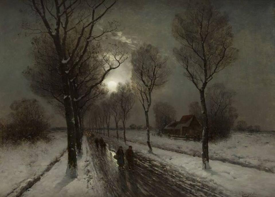 Moonlight by Johann Jungblut, 1860 - 1912