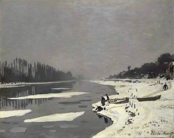 Ice in the Seine at Bougival by Claude Monet, 1967