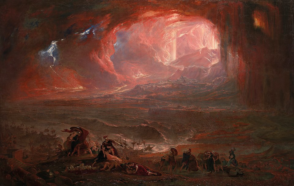 The Destruction of Pompeii and Herculaneum by John Martin, 1821