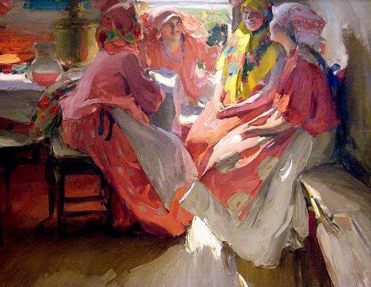 Visit by Abram Arkhipov, 1915