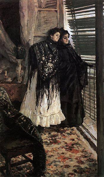 On the Balcony (Spanish Women Leonora and Ampara_ by Konstantin Korovin, 1897-98