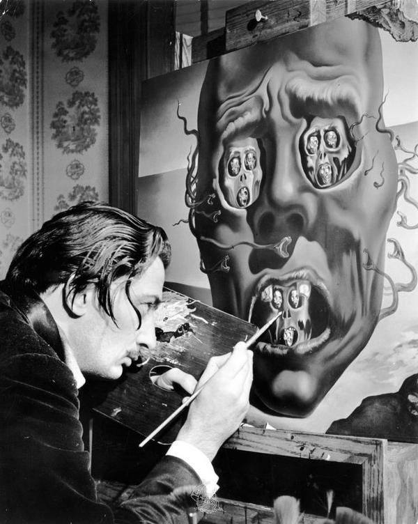 Salvador Dali painting The Face of War by Unknown, 1941
