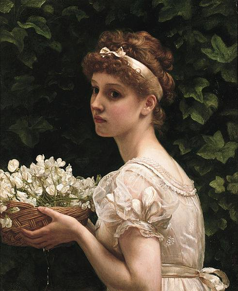 Pea Blossoms by Edward Poynter, 1890