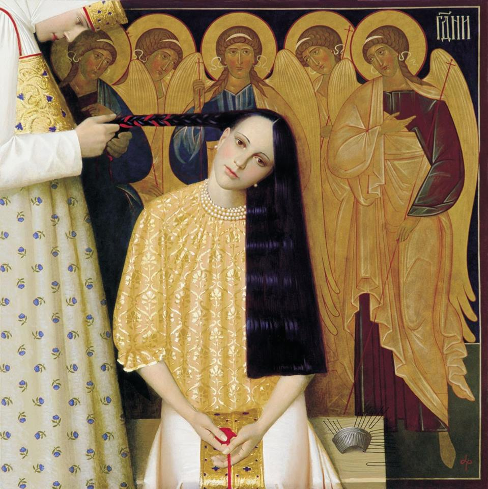 The Unplaiting of the Hair by Andrey Remnev, 1997