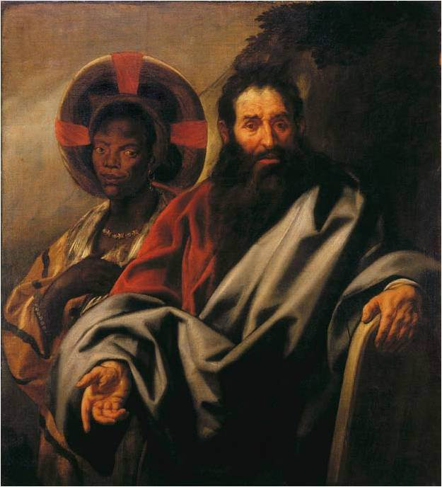 Jordaens Mozes en zijn Ethiopische vrouw (Moses and his Ethiopian Wife) by Jacob Jordaens c. 1650