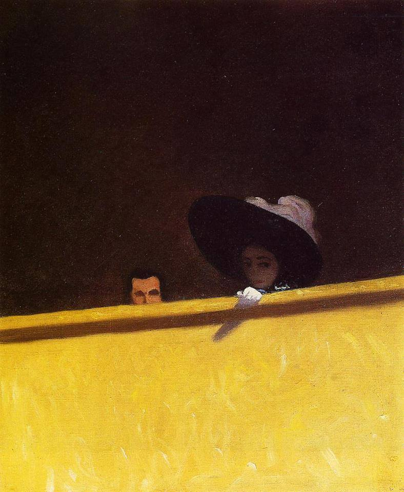 Box Seats at the Theatre, the Gentleman and the Lady by Félix Vallotton, 1909