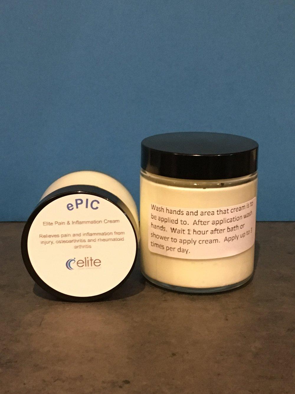 ePIC - Elite Pain & Inflammation Cream