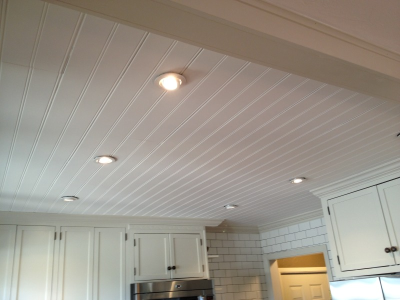Beadboard panel ceiling for a timeless, classical approach