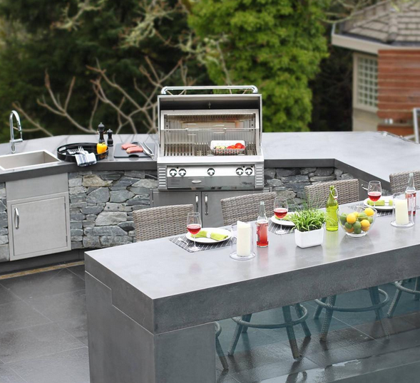 This is an example of our concrete subcontractors custom work for this lovely outdoor kitchen.