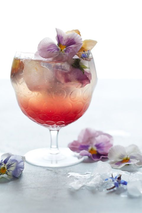 Anthropology Borage and Pansy cocktail