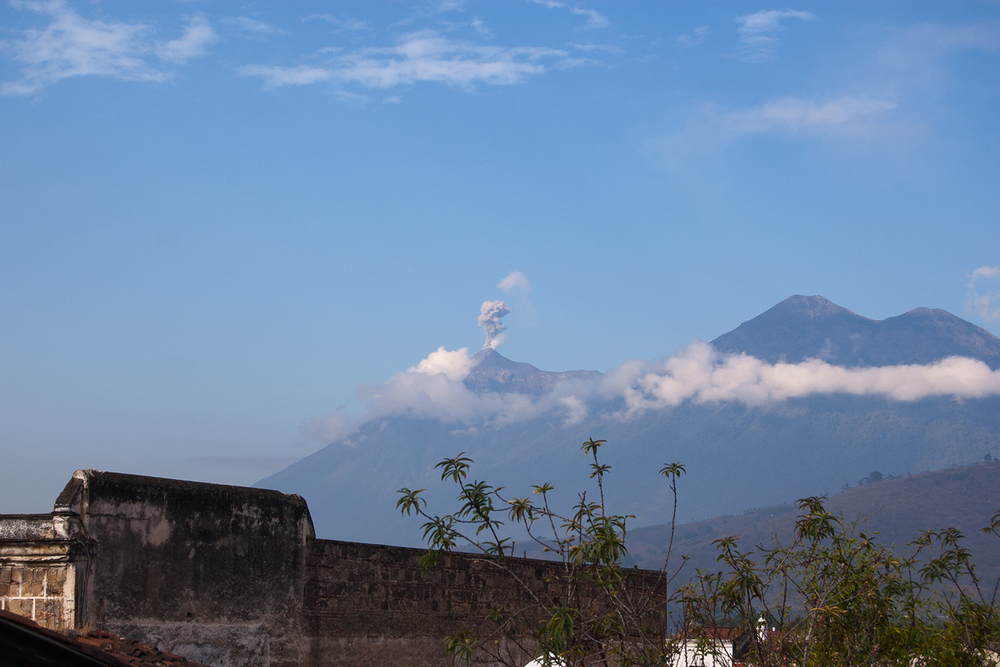 Just a little active volcano, is all.Volcán de Fuego, Antigua.