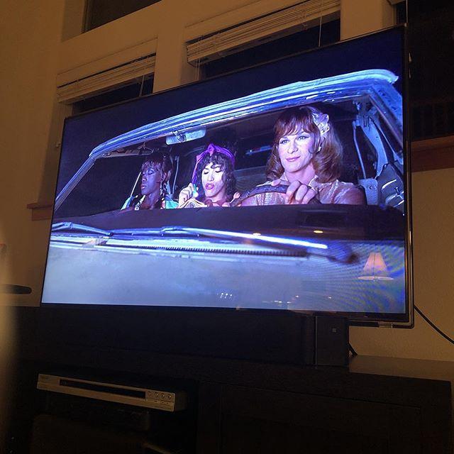 Watching my fav ladies : Veda , Noxi and ChiCHi - #towongfoothanksforeverythingjulienewmar . Thank you @netflix !!!! . . . #Sunday #night #movie #90s #camp #netflex