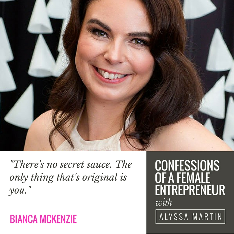 Building credibility from scratch with Bianca McKenzie on the Confessions of a Female Entrepreneur podcast #confessionspodcast