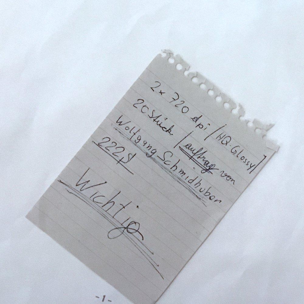 Mein erster Auftrag, inkl. Rechtschreibfehler (Original aus dem Jahr 1997)