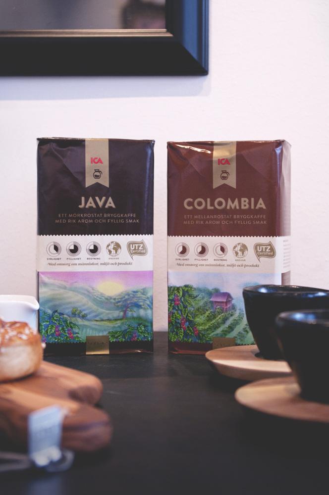 Illustrationer för Ica Kaffe