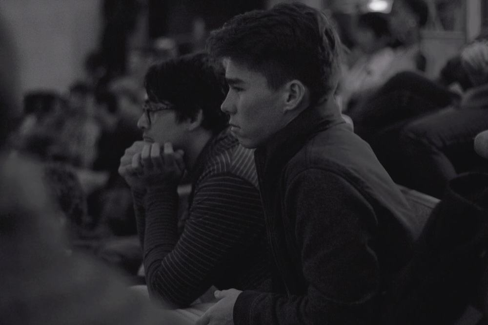 Watching finals with my brother Will Giles. PC: Troy Osaki