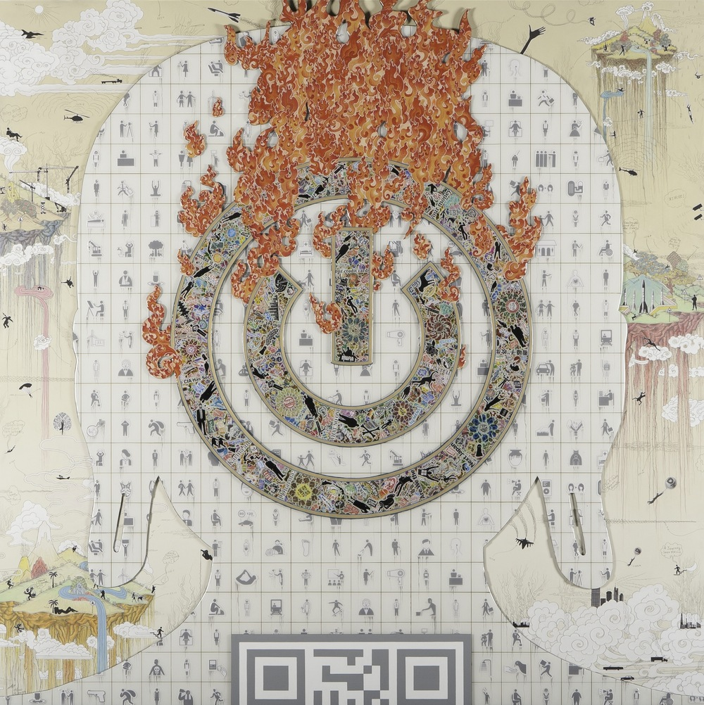 Gonkar Gyatso sticker painting Meditation on Power.jpg