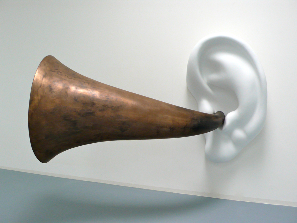 John Baldessari sculpture - Ear Trumpet