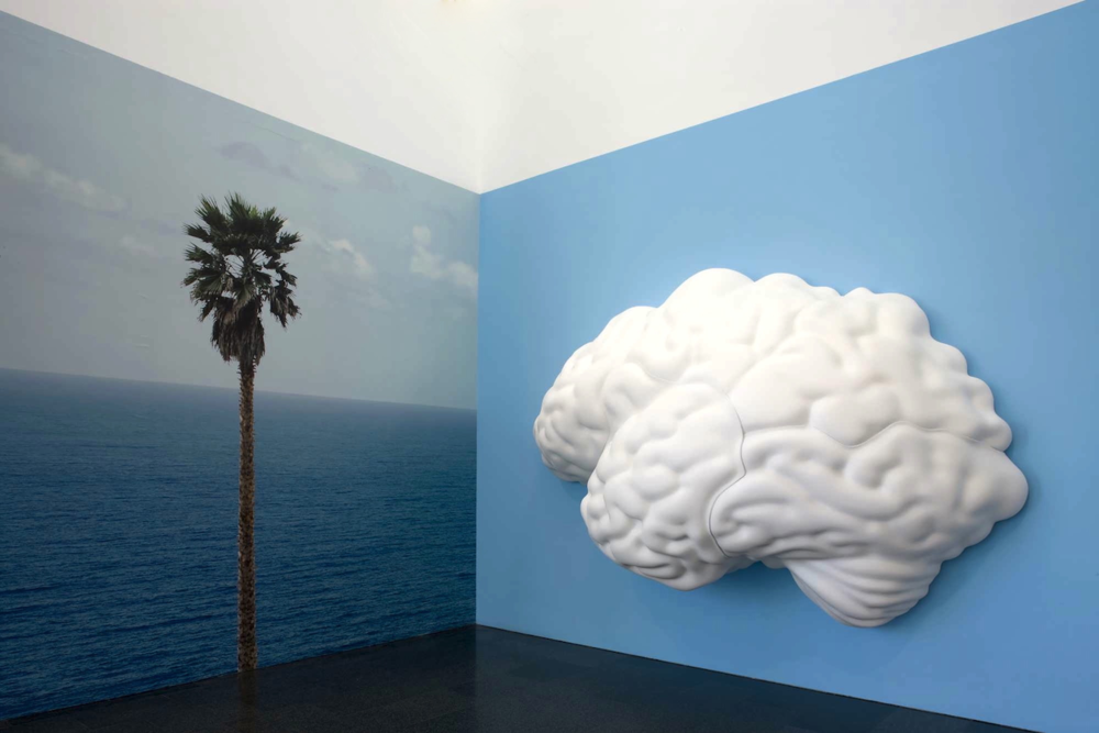 John Baldessari sculpture - Brain Cloud - Pure Beauty retrospective