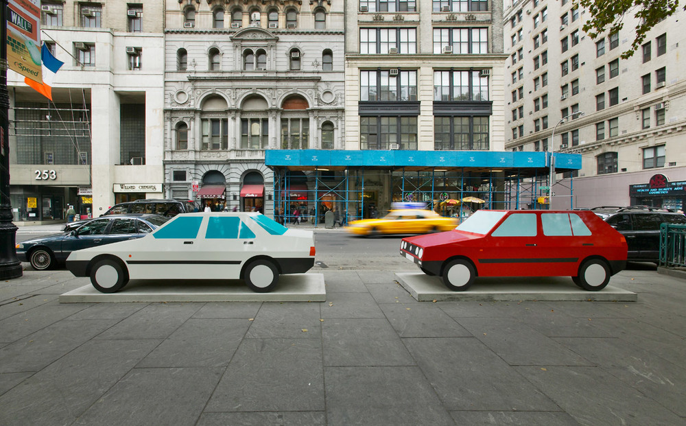 Julian Opie cars New York