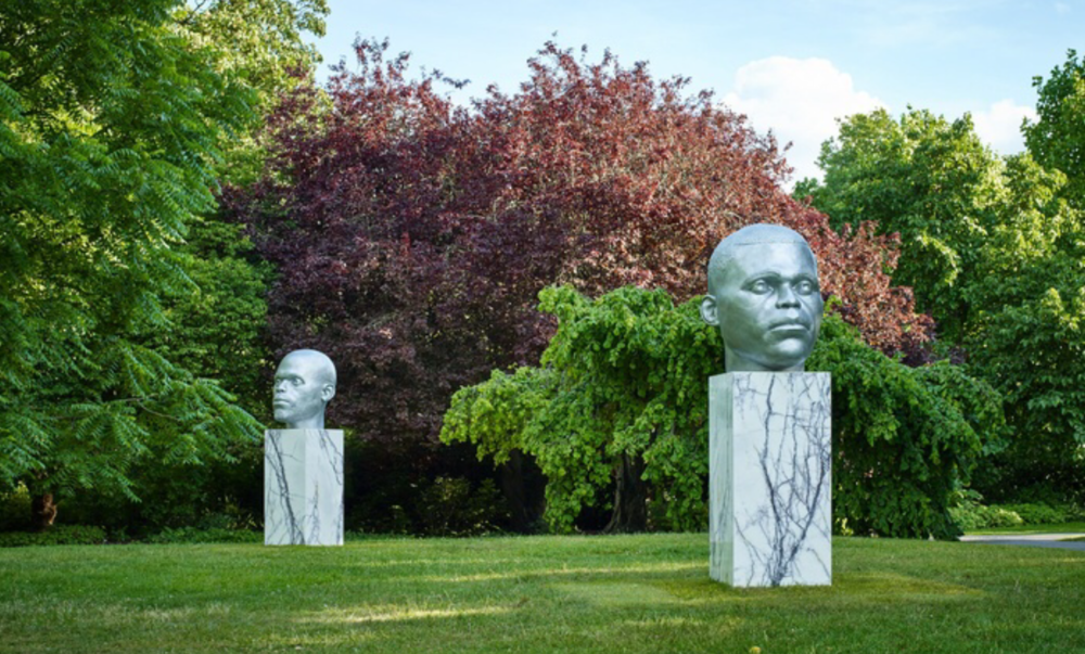 Thomas J. Price,  Numen (Shifting Votive One, Two and Three) , 2016 in The Regent's Park, London