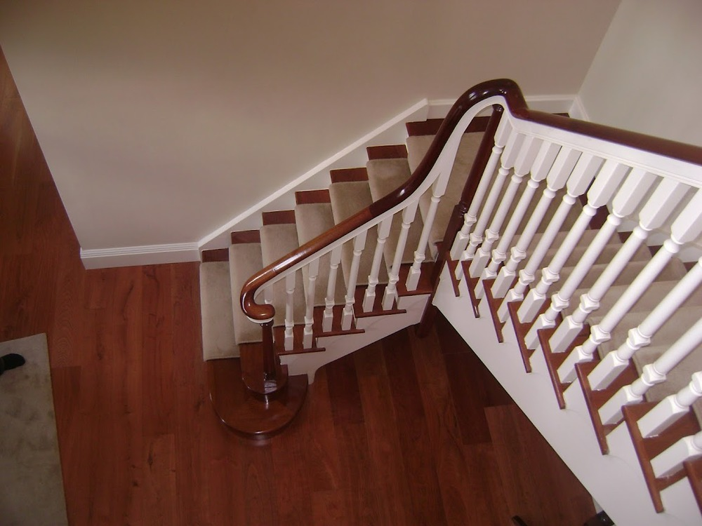 Elegant Georgian Cut String Stairs With Continuous / Carved Mahogany  Handrails Ref. ST12u0026nbsp;