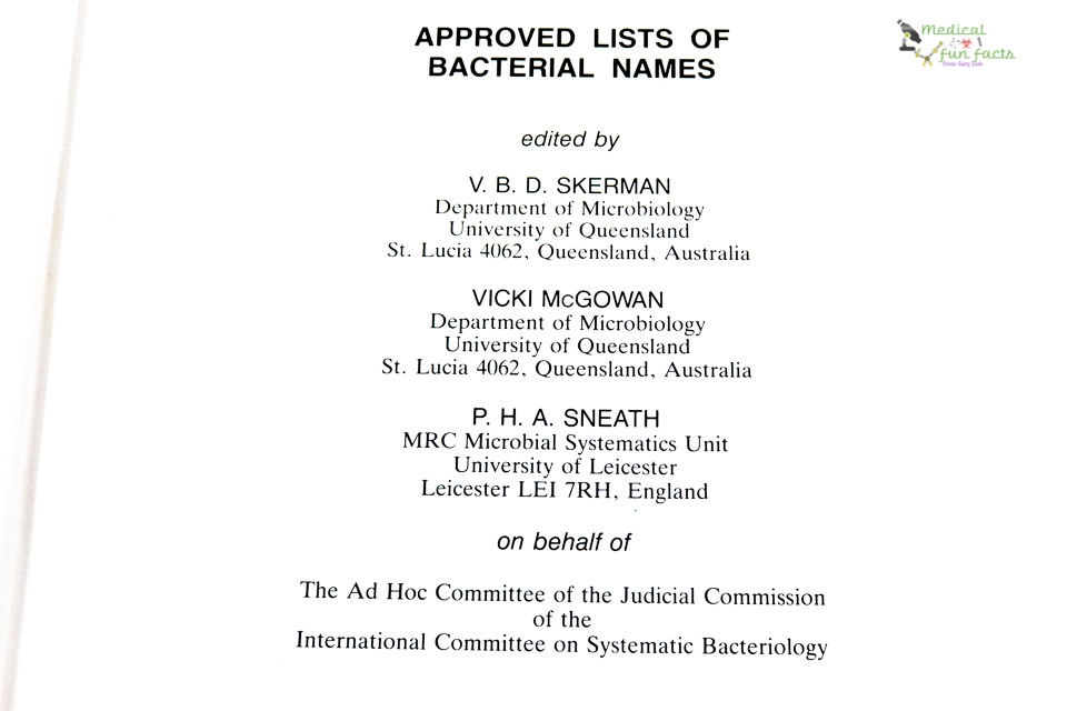 Lists of approved bacterial names
