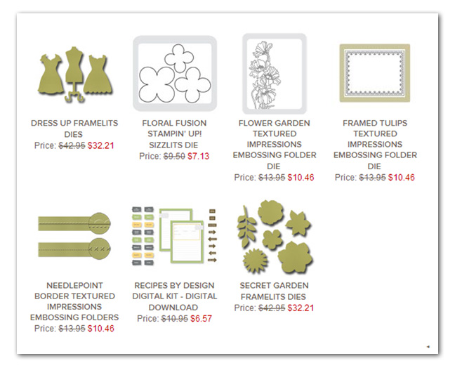CLICK IMAGE to visit the this week's deals in my online store...